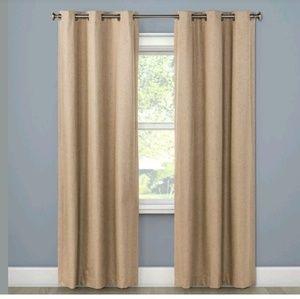 2- Windsor Light Blocking Curtain Panel - Mushroom